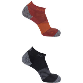 Salomon Speed Socks 2 pack, biking red/black
